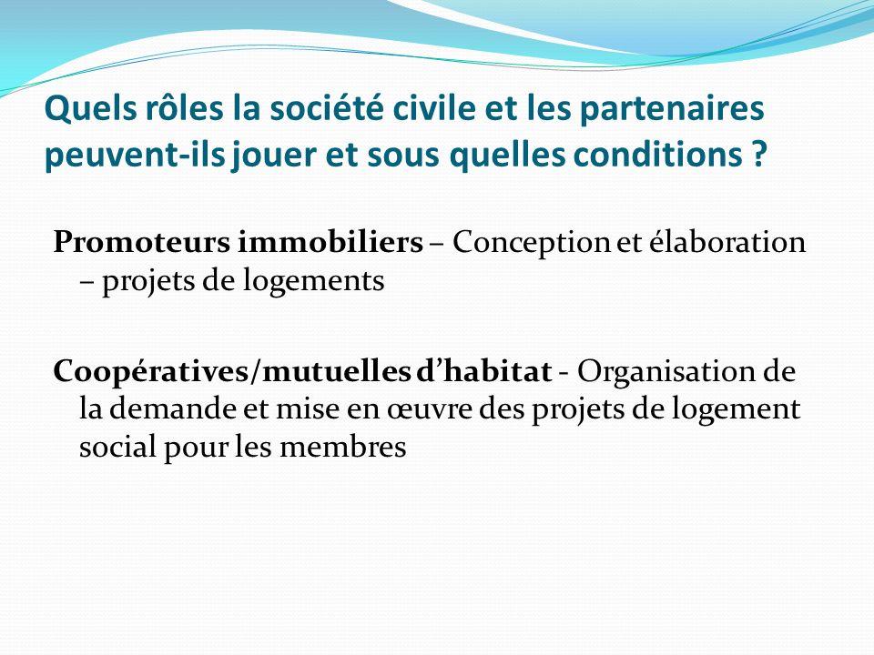 Quels rôles la société civile et les partenaires peuvent-ils jouer et sous quelles conditions