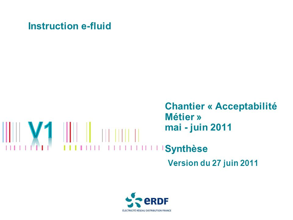 Chantier « Acceptabilité Métier » mai - juin 2011 Synthèse