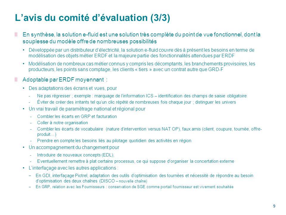 L'avis du comité d'évaluation (3/3)