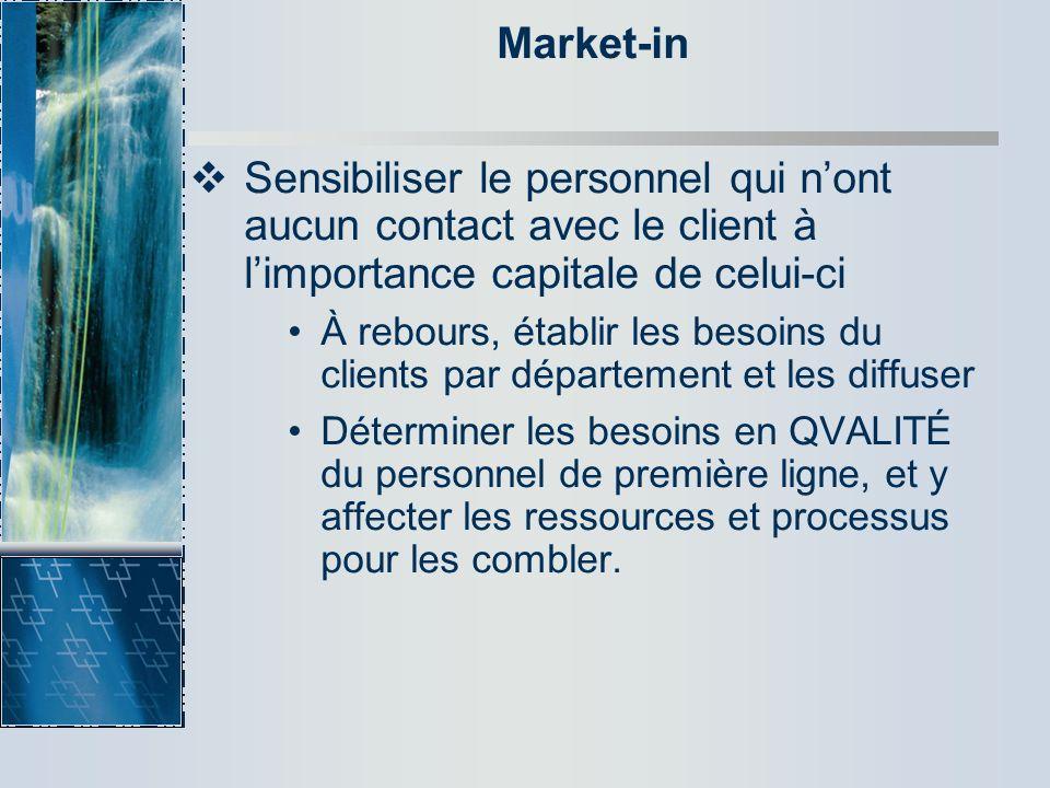 Market-in 31/03/2017. Sensibiliser le personnel qui n'ont aucun contact avec le client à l'importance capitale de celui-ci.