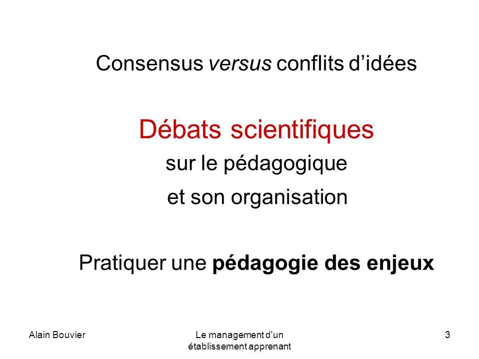 Débats scientifiques Consensus versus conflits d'idées
