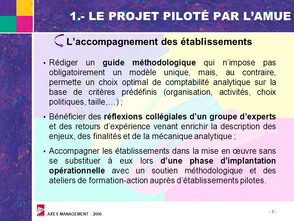 1.- LE PROJET PILOTÉ PAR L'AMUE