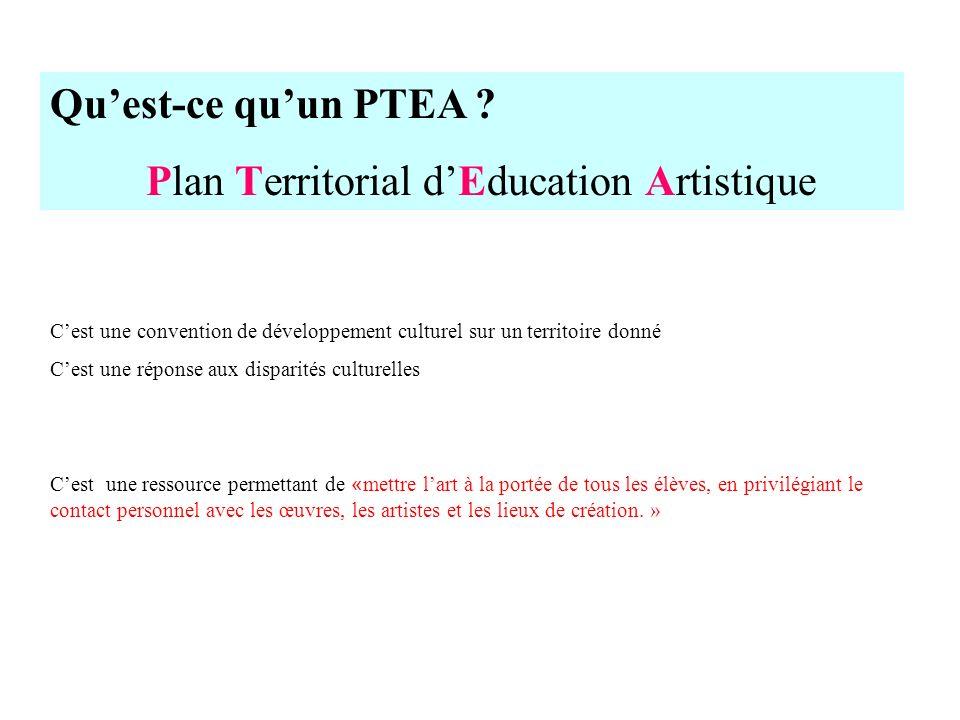 Plan Territorial d'Education Artistique