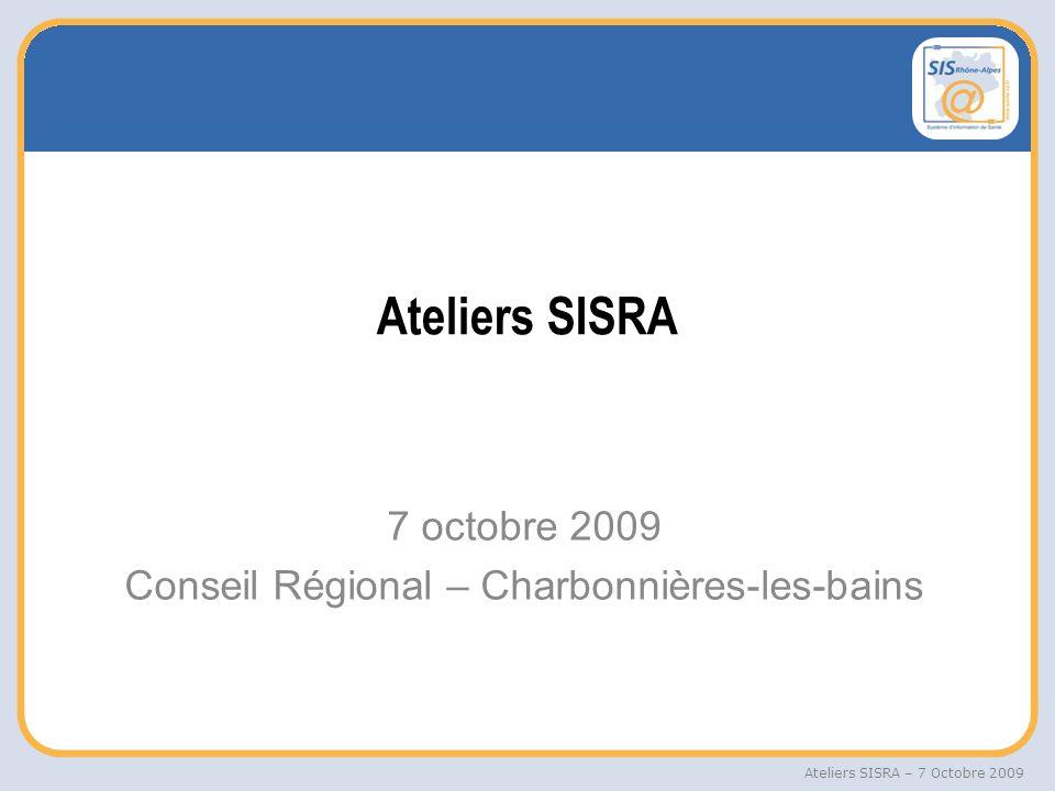 7 octobre 2009 Conseil Régional – Charbonnières-les-bains