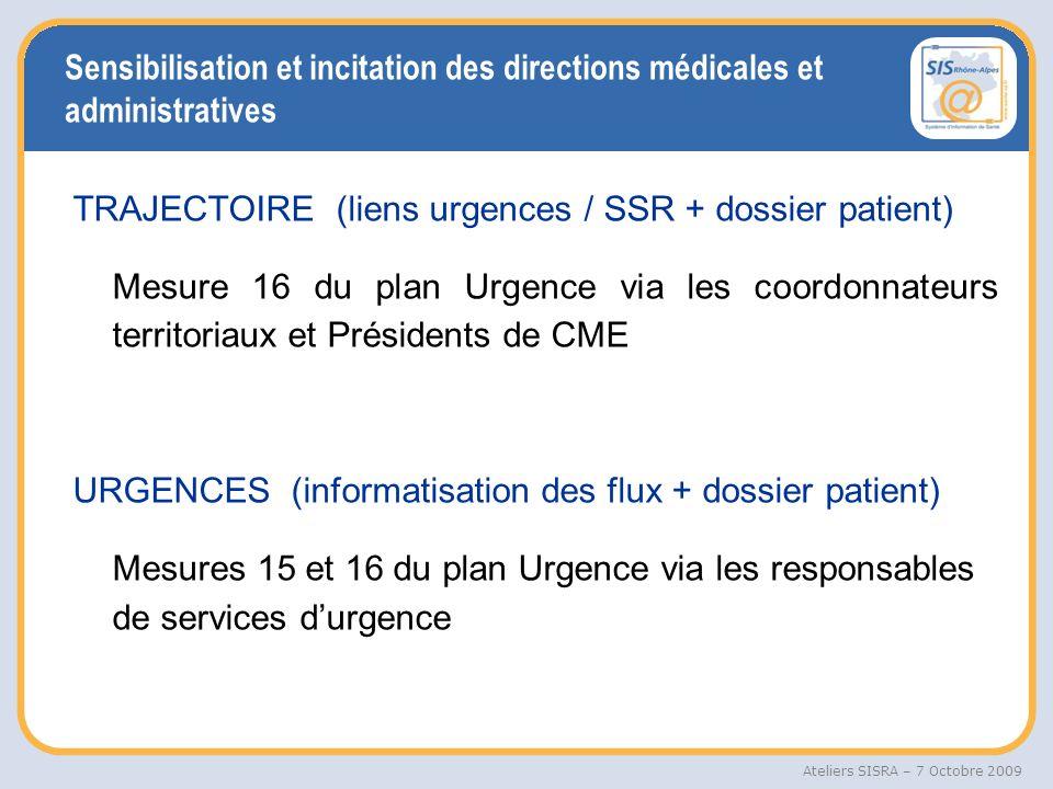 Sensibilisation et incitation des directions médicales et administratives