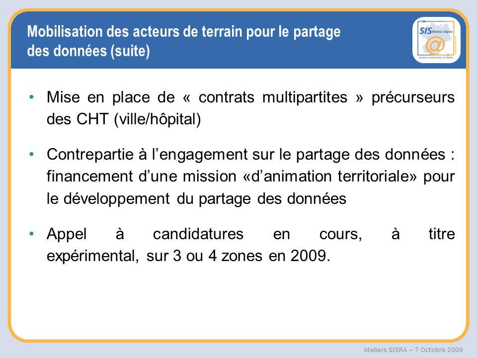 Mobilisation des acteurs de terrain pour le partage des données (suite)