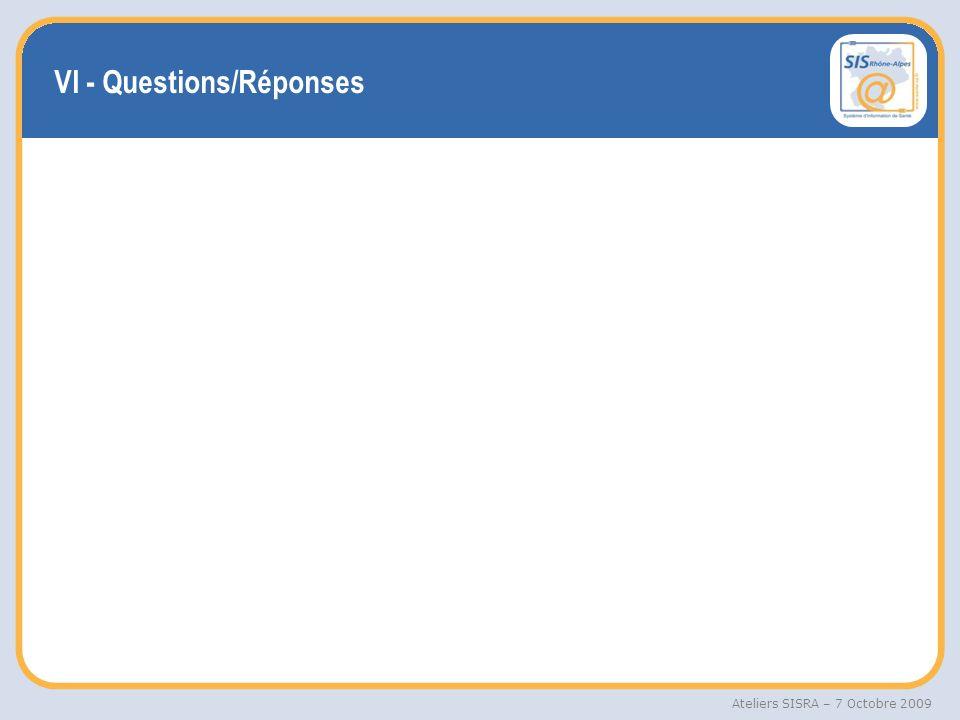 VI - Questions/Réponses