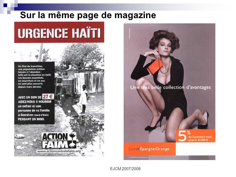 Sur la même page de magazine