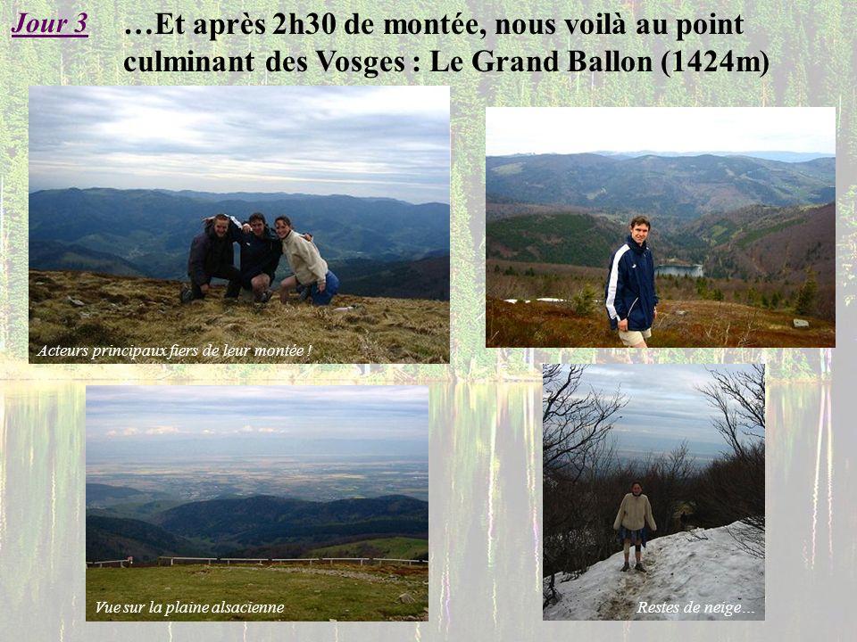 Jour 3 …Et après 2h30 de montée, nous voilà au point culminant des Vosges : Le Grand Ballon (1424m)