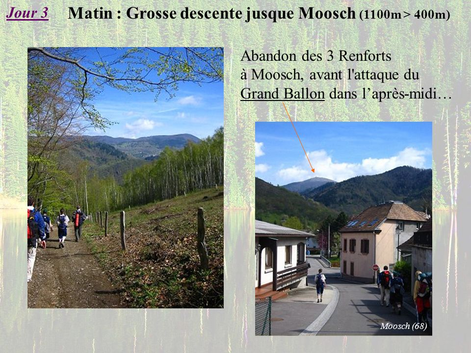 Matin : Grosse descente jusque Moosch (1100m > 400m)