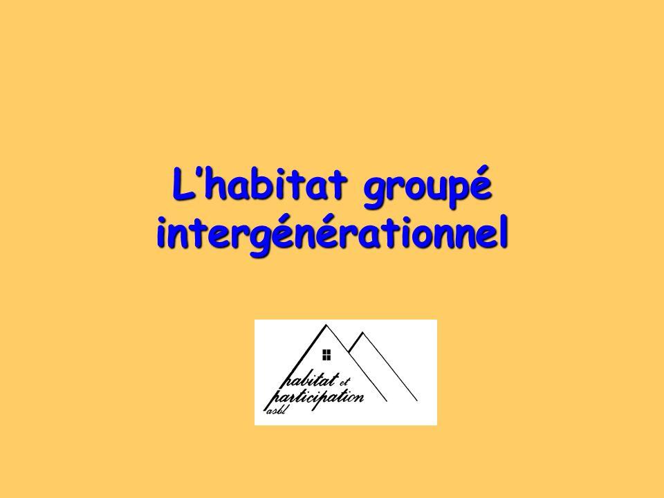 L'habitat groupé intergénérationnel