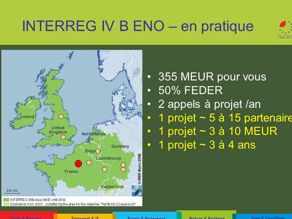 INTERREG IV B ENO – en pratique