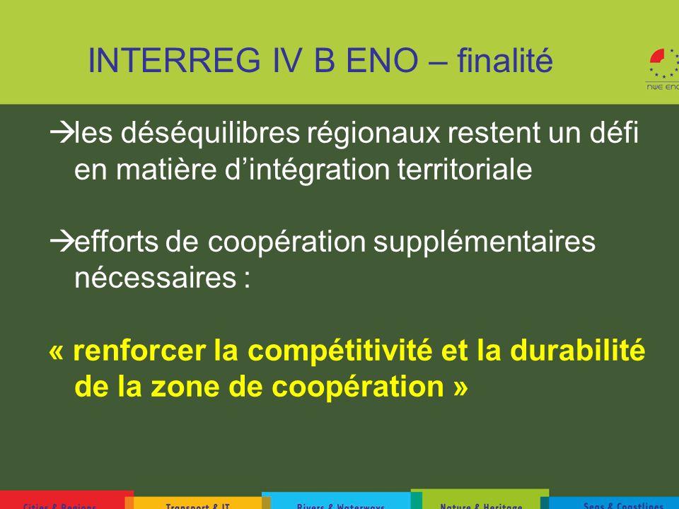 INTERREG IV B ENO – finalité