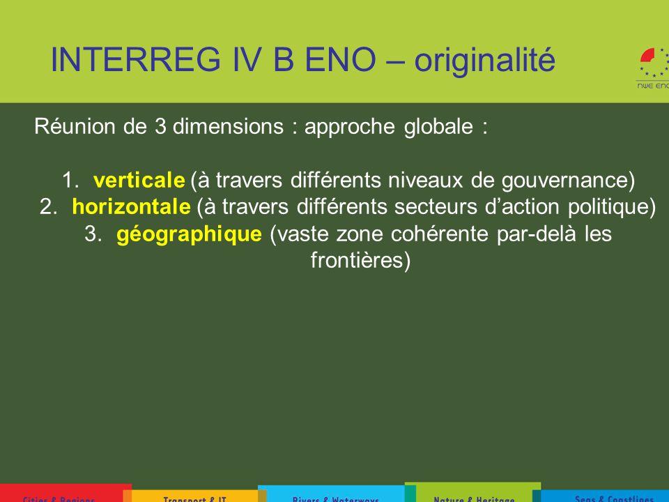 INTERREG IV B ENO – originalité