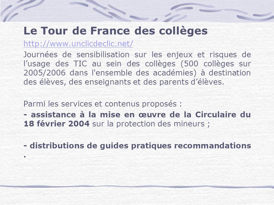 Le Tour de France des collèges