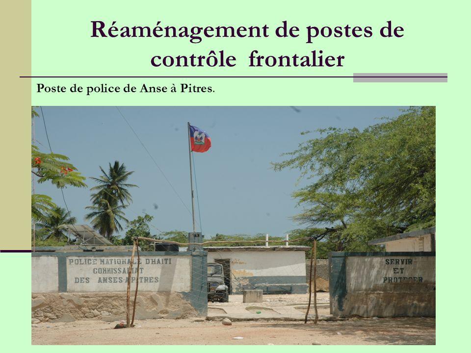 Réaménagement de postes de contrôle frontalier