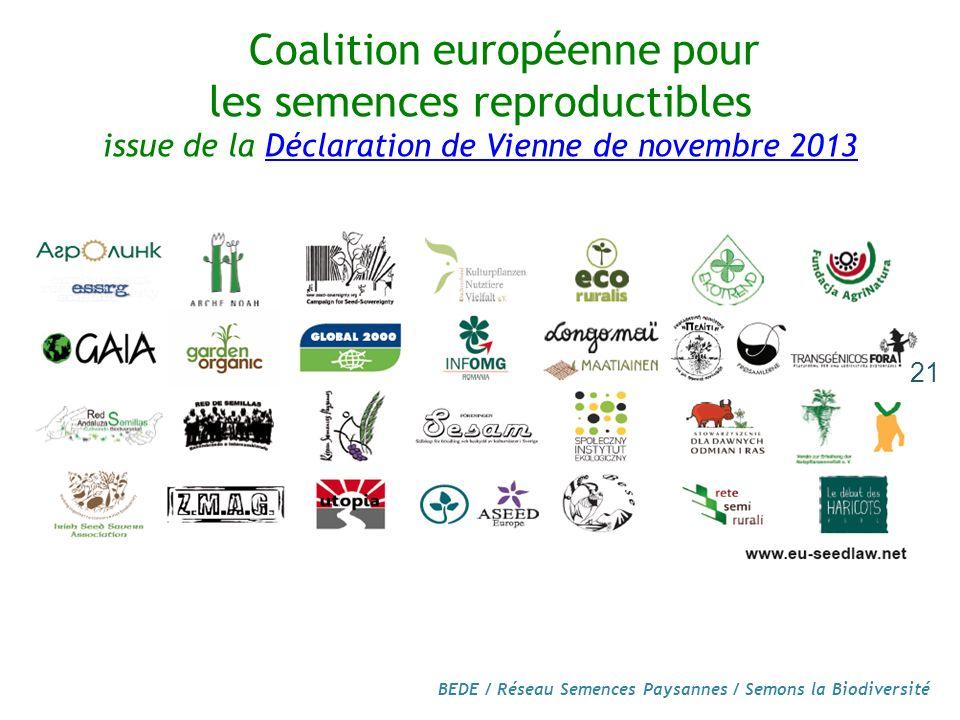 Coalition européenne pour les semences reproductibles