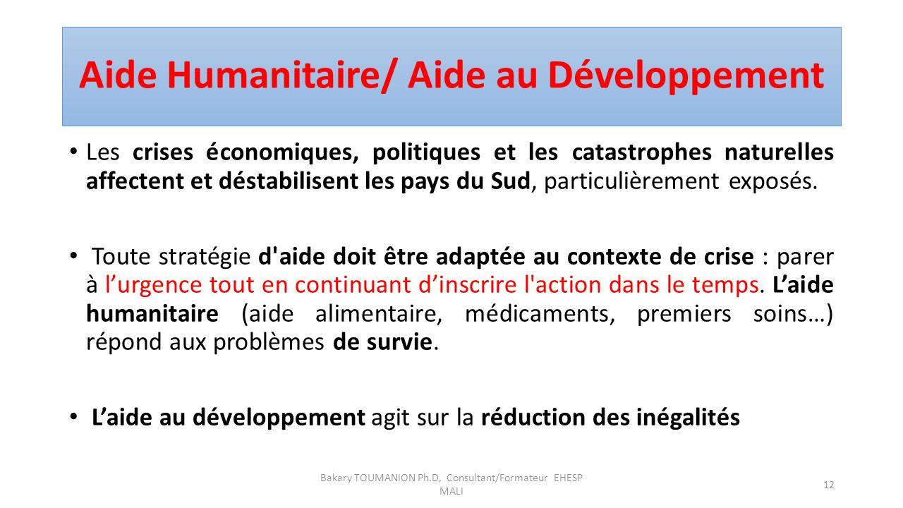 Aide Humanitaire/ Aide au Développement