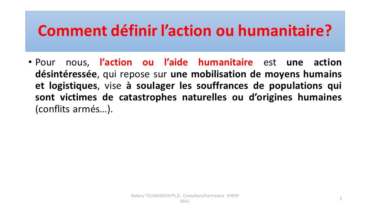 Comment définir l'action ou humanitaire