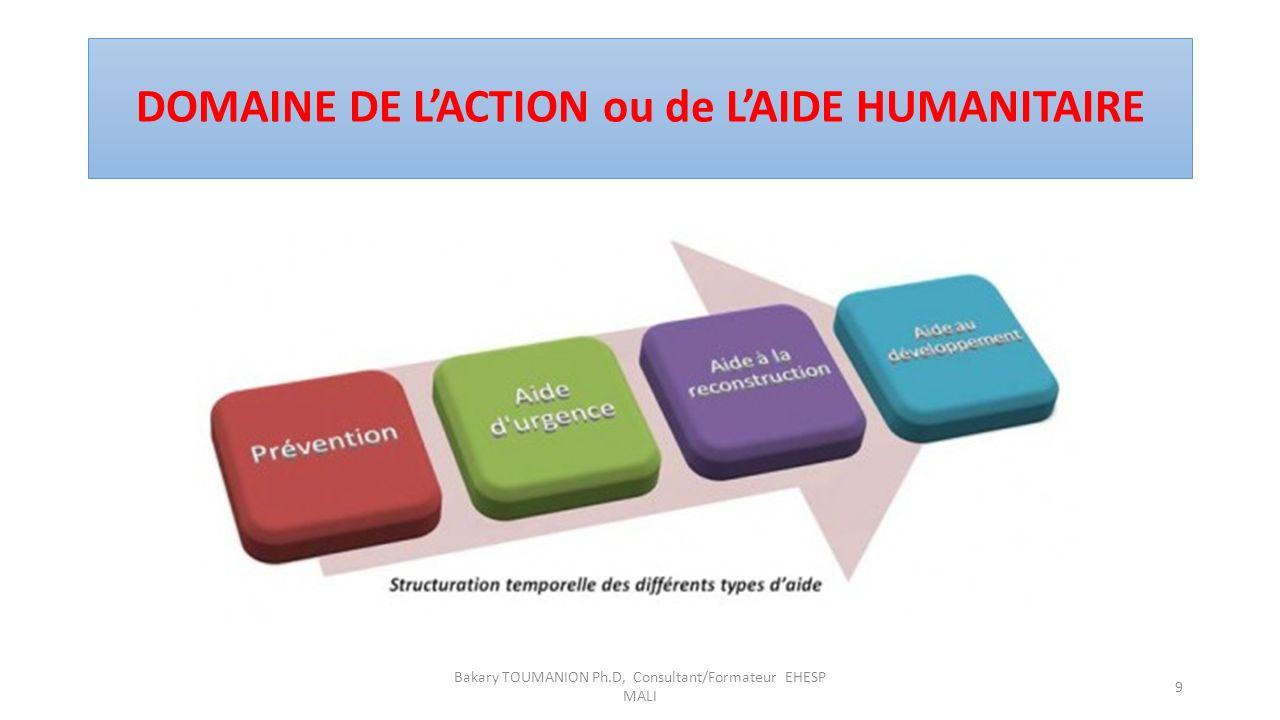 DOMAINE DE L'ACTION ou de L'AIDE HUMANITAIRE