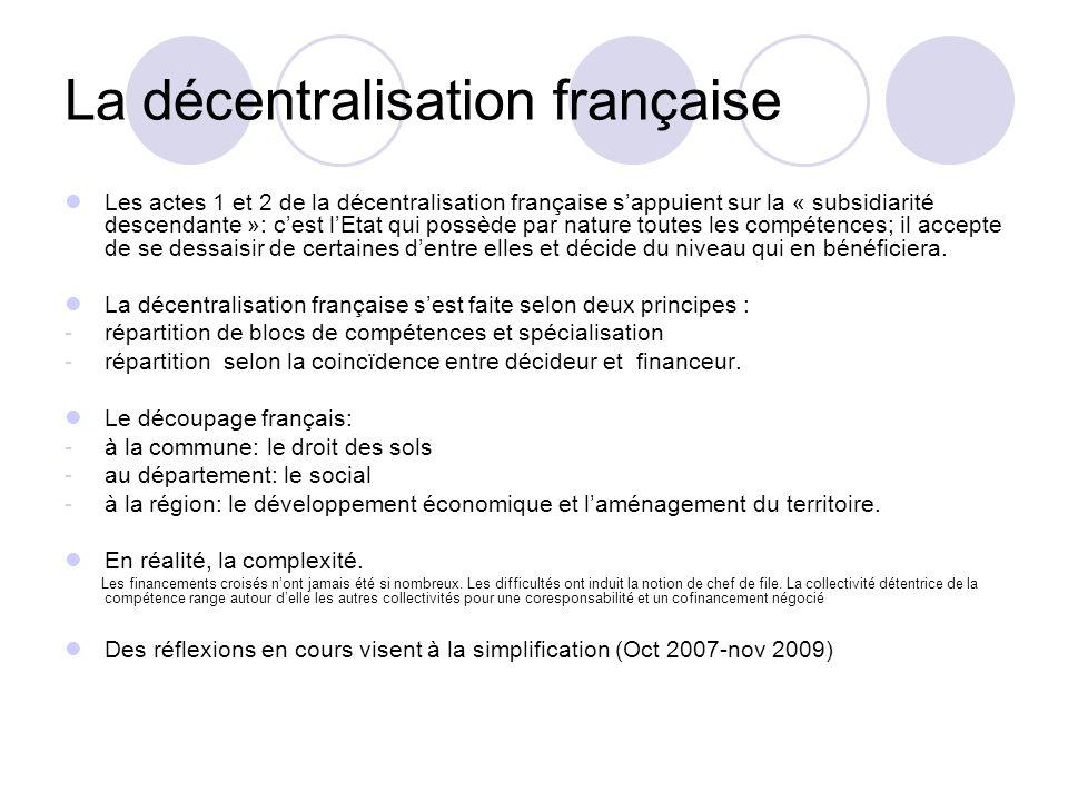 La décentralisation française