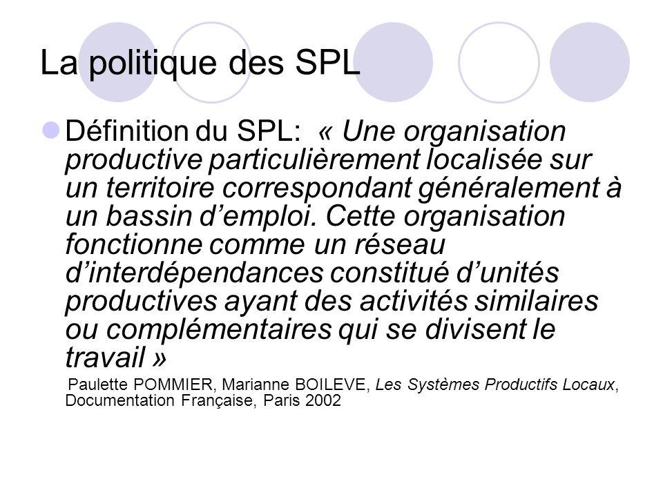 La politique des SPL
