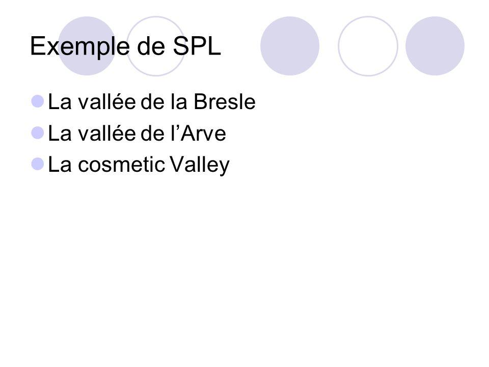 Exemple de SPL La vallée de la Bresle La vallée de l'Arve