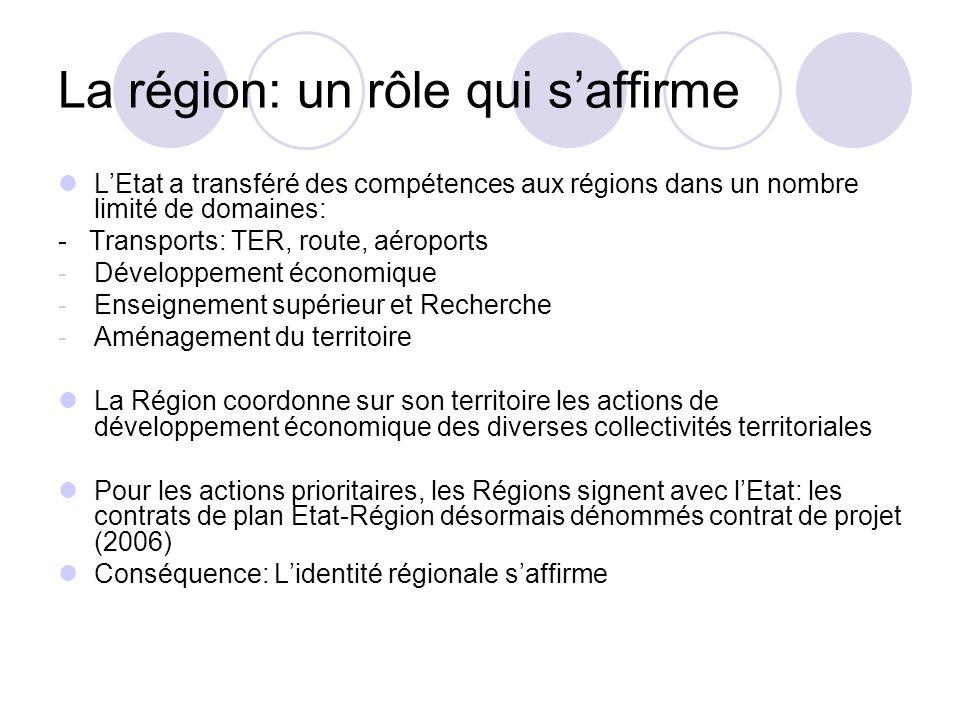 La région: un rôle qui s'affirme