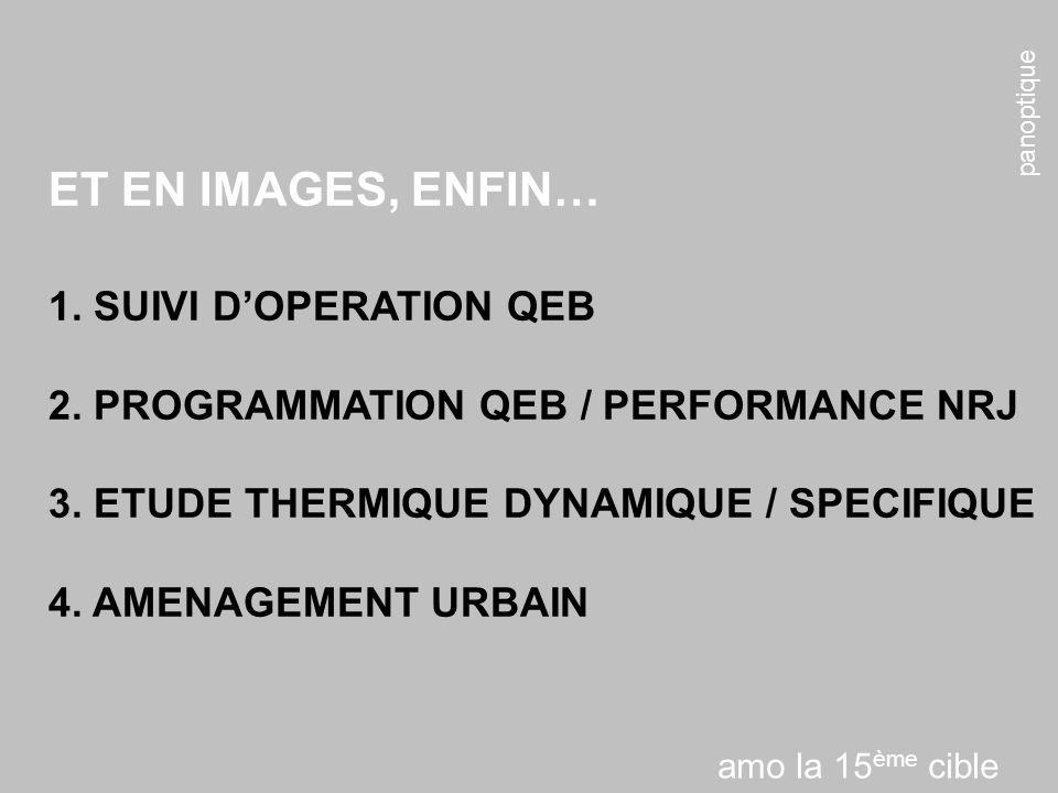 ET EN IMAGES, ENFIN… 1. SUIVI D'OPERATION QEB