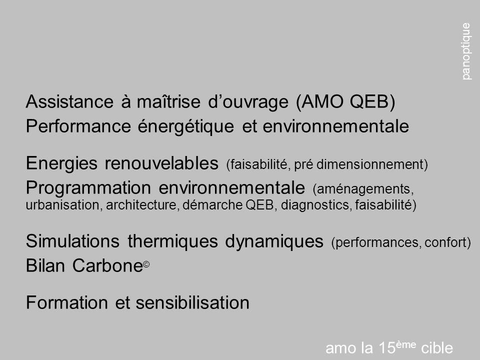 Assistance à maîtrise d'ouvrage (AMO QEB)