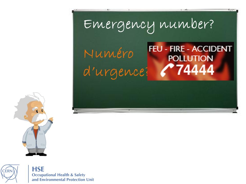 Emergency number Numéro d'urgence