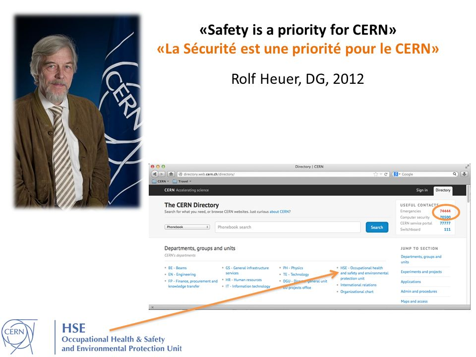 «Safety is a priority for CERN»