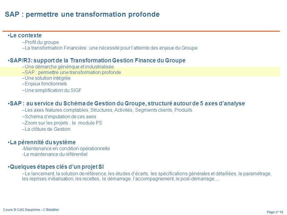 SAP : permettre une transformation profonde
