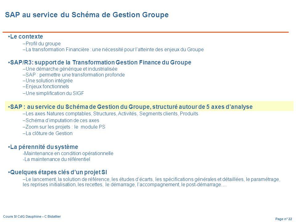 SAP au service du Schéma de Gestion Groupe