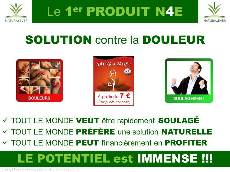 Le 1er PRODUIT N4E SOLUTION contre la DOULEUR