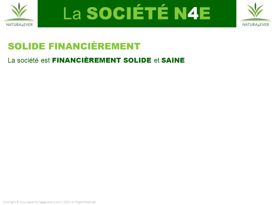 La SOCIÉTÉ N4E SOLIDE FINANCIÈREMENT