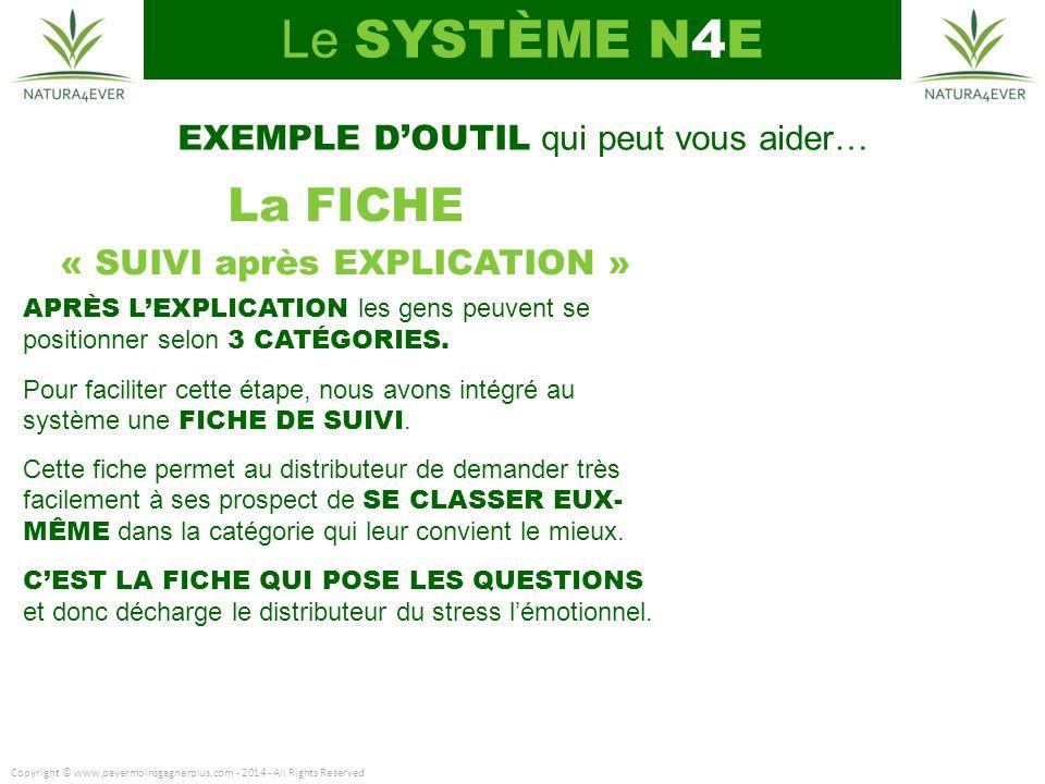 Le SYSTÈME N4E La FICHE EXEMPLE D'OUTIL qui peut vous aider…