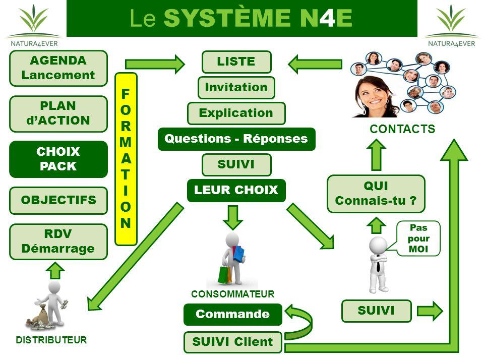Le SYSTÈME N4E FORMATION AGENDA LISTE Lancement Invitation PLAN