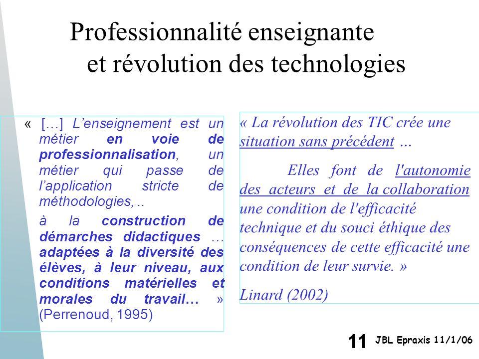 Professionnalité enseignante et révolution des technologies
