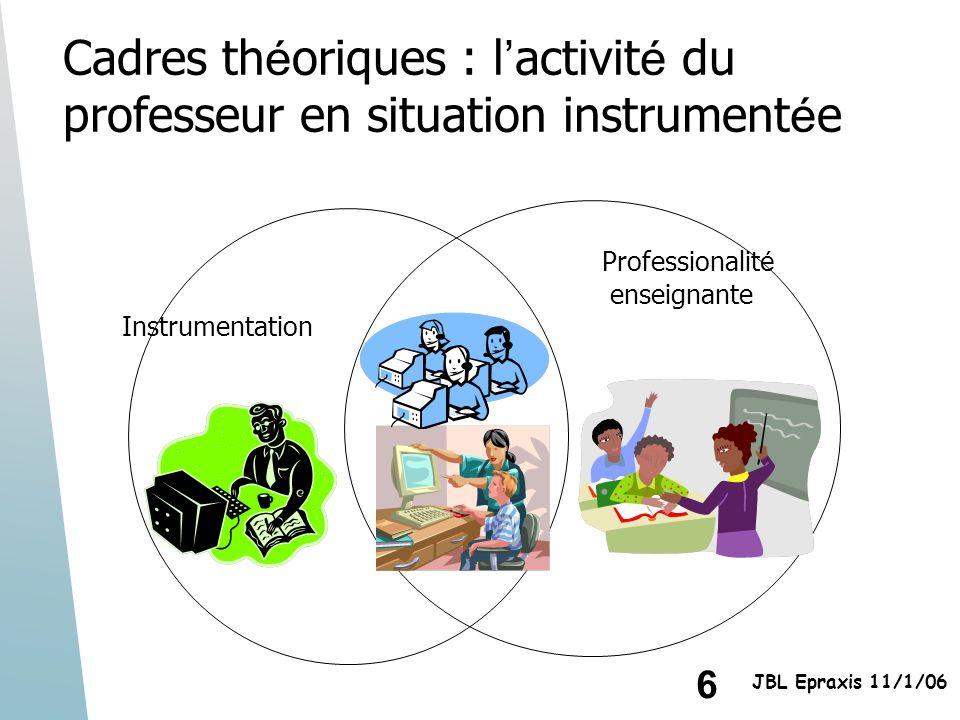 Cadres théoriques : l'activité du professeur en situation instrumentée