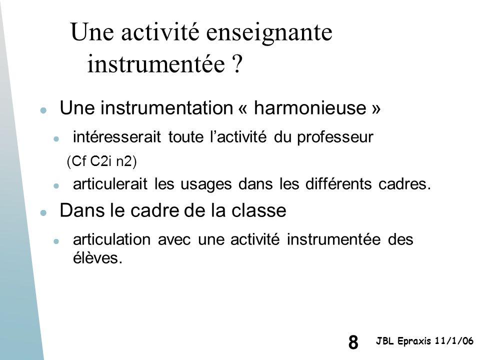 Une activité enseignante instrumentée