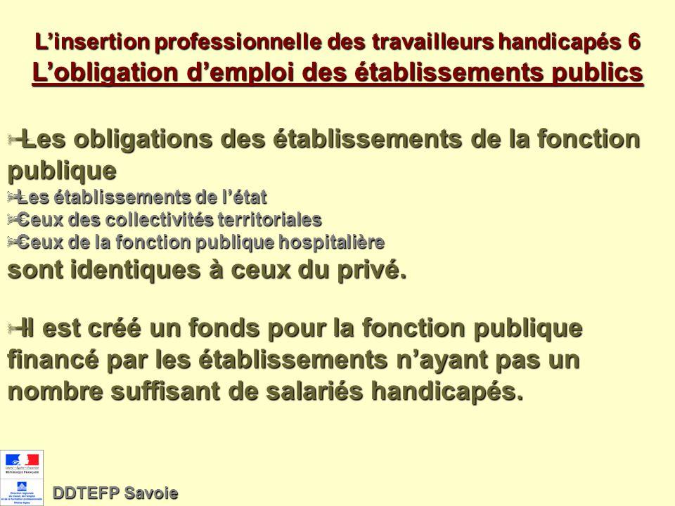 Les obligations des établissements de la fonction publique