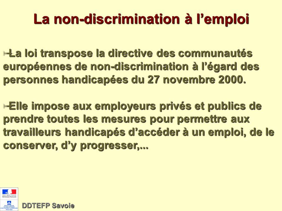 La non-discrimination à l'emploi