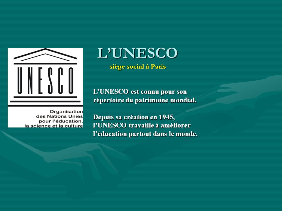 L'UNESCO siège social à Paris