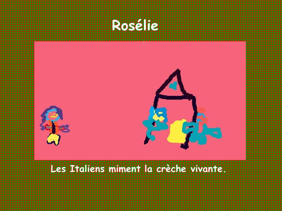 Les Italiens miment la crèche vivante.