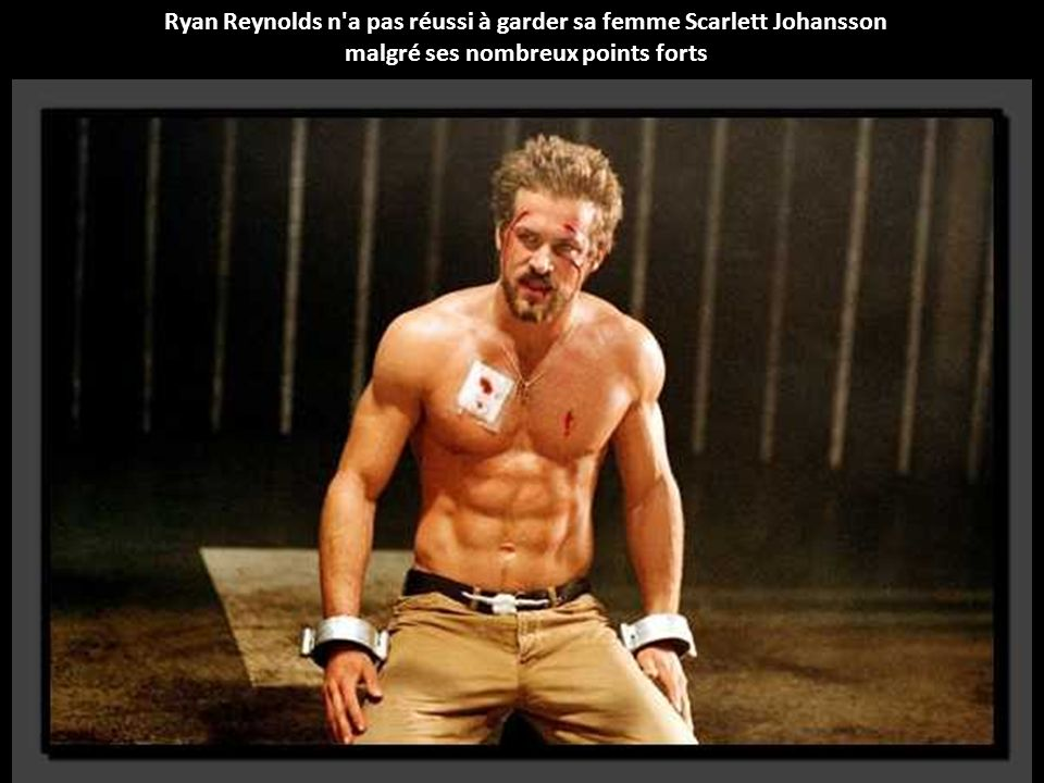 Ryan Reynolds n a pas réussi à garder sa femme Scarlett Johansson