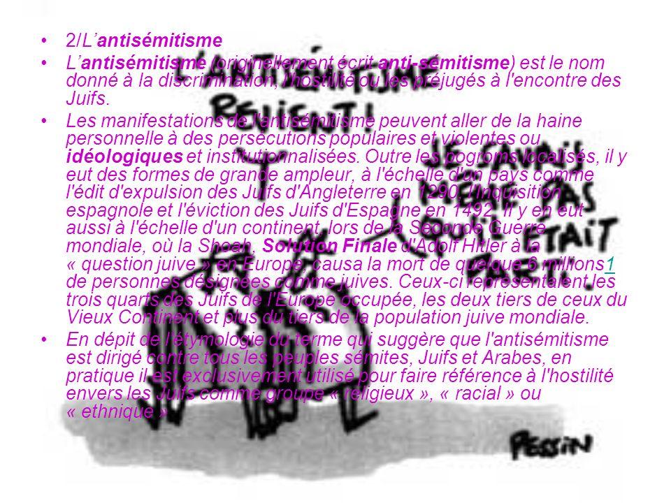 2/L'antisémitisme