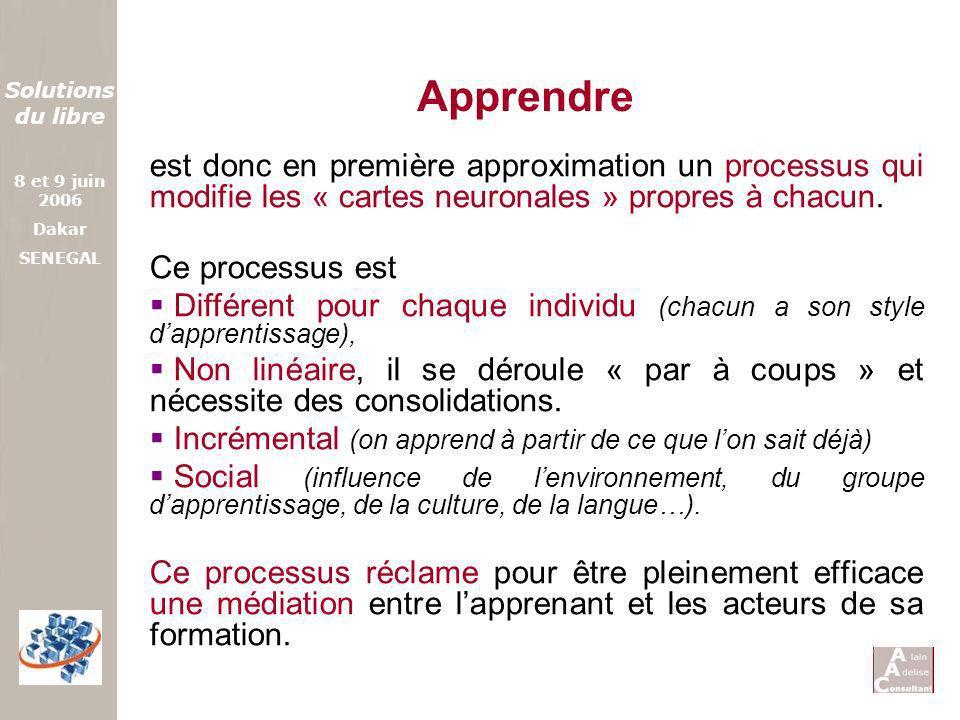Apprendre est donc en première approximation un processus qui modifie les « cartes neuronales » propres à chacun.