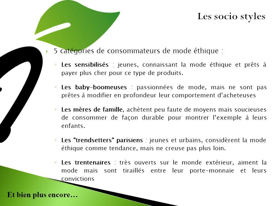 Les socio styles 5 catégories de consommateurs de mode éthique :