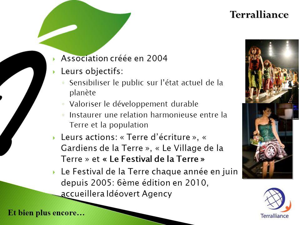 Terralliance Association créée en 2004 Leurs objectifs: